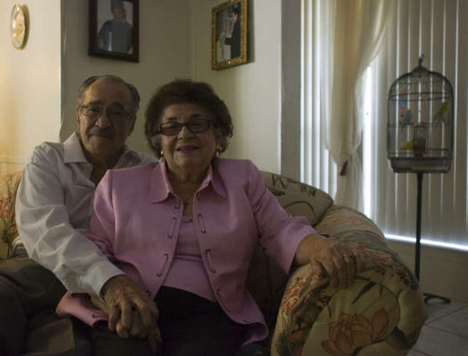 Baldomero and Mary Lou Vallejo were married in Mexico in 1950, but had to be apart two months while her paperwork was processed before she could come to the U.S. Photo: Yasmeen Smalley, Chronicle