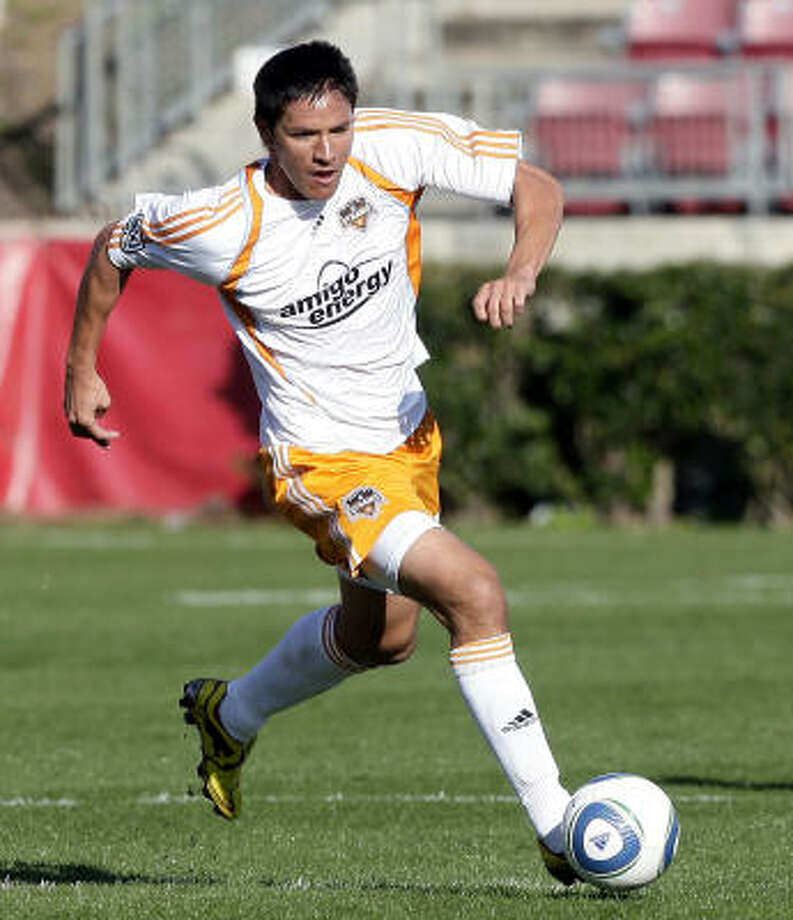 Brian Ching will be around town promoting the All-Star Game, the Dynamo and his charitable causes soon after the team returns home after its game at Columbus on Saturday. Photo: Bob Levey, For The Chronicle