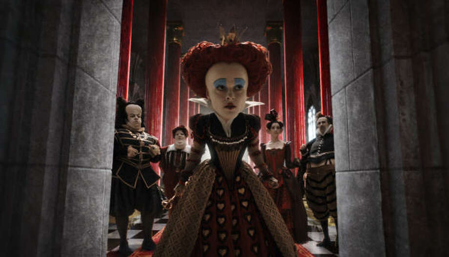 Helena Bonham Carter is shown in a scene from the Alice in Wonderland. Photo: Disney