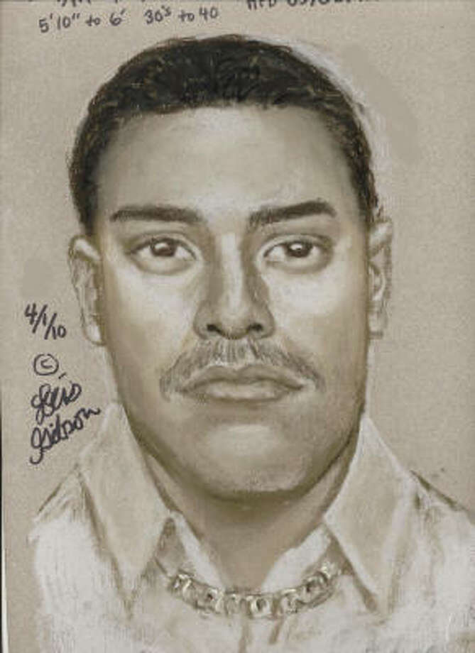 A sketch of one of the persons of interest to police.