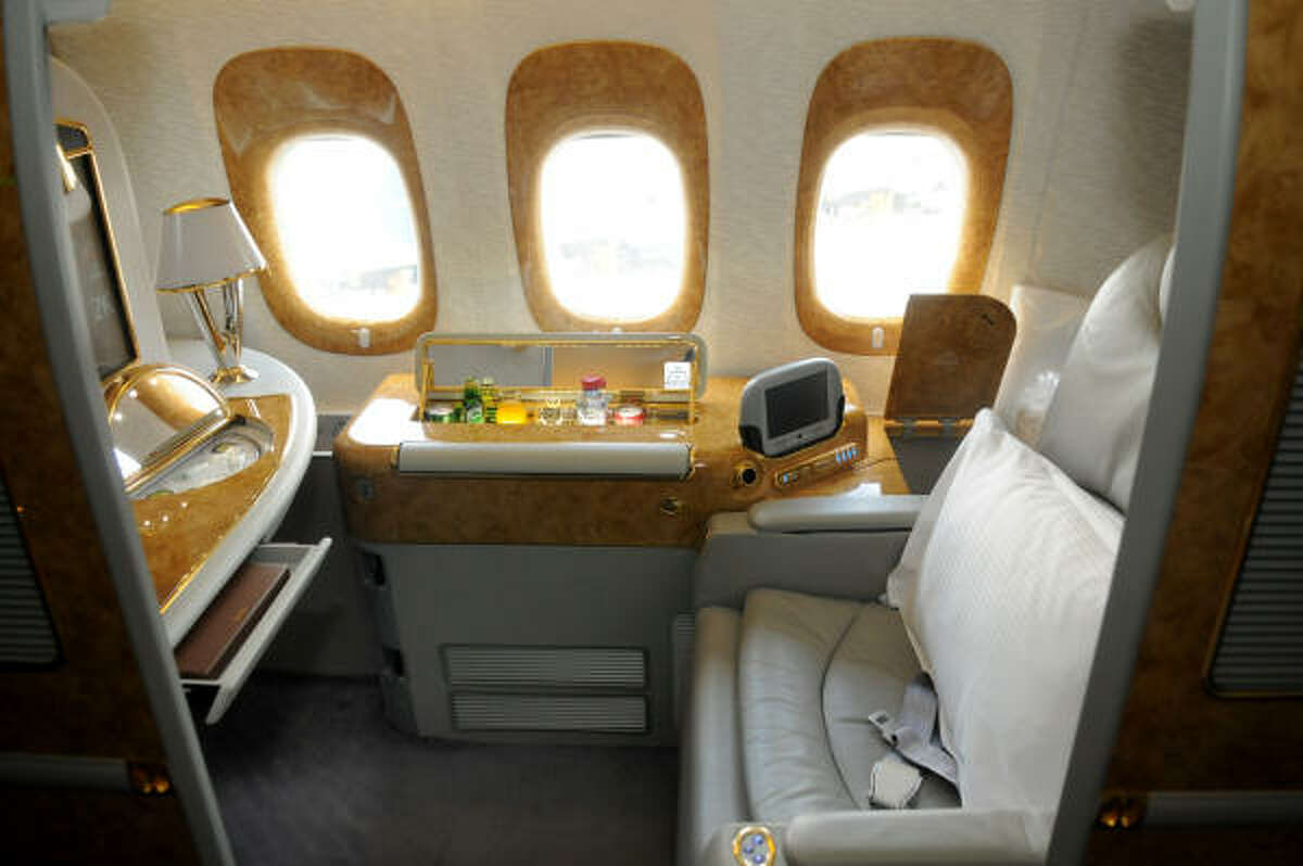 Emirates offers private suites in first class.