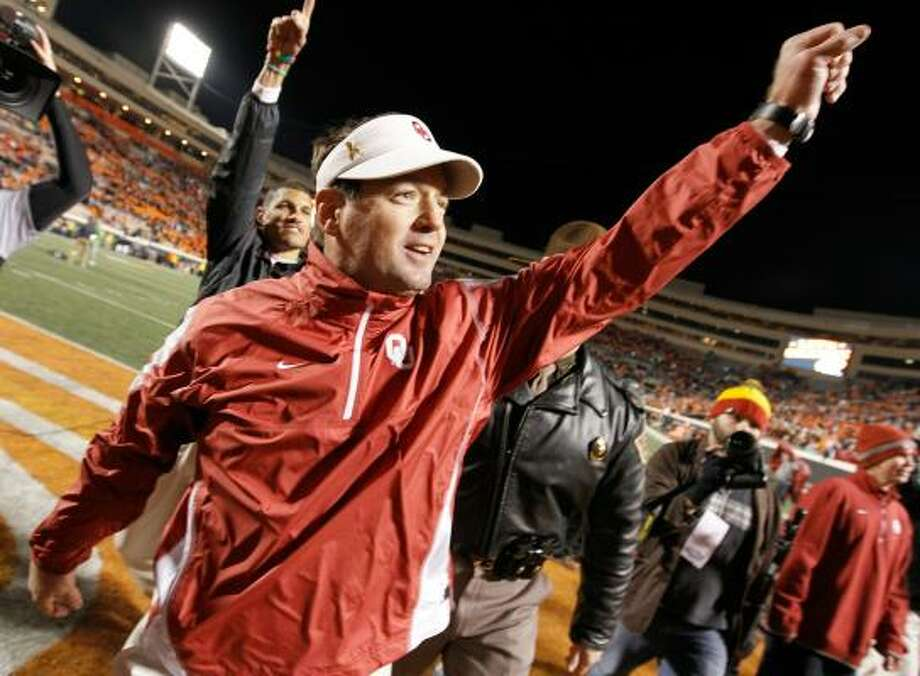 Fresh off a Bedlam victory, Bob Stoops and the Sooners are headed back to the Big 12 title game. Photo: Tom Pennington, Getty Images
