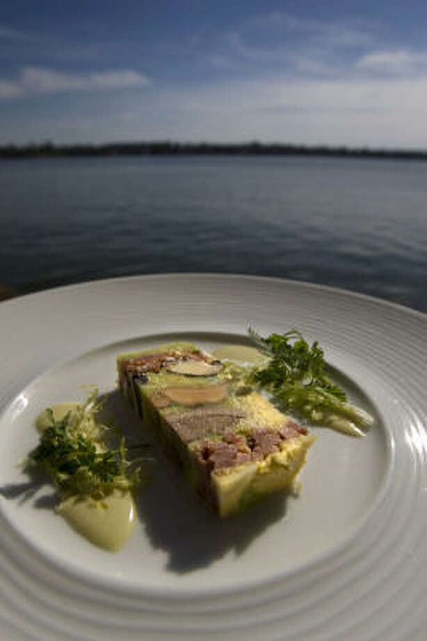 The terrine at Chez Roux includes pigeon, smoked ham, duck liver and cabbage. Photo: Johnny Hanson :, Chronicle