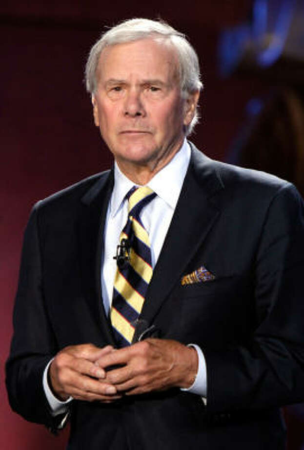 Tom Brokaw says economic woes and the uncertain future faced by many Americans have created an atmosphere that can breed intolerance. Photo: Richard Drew, Associated Press