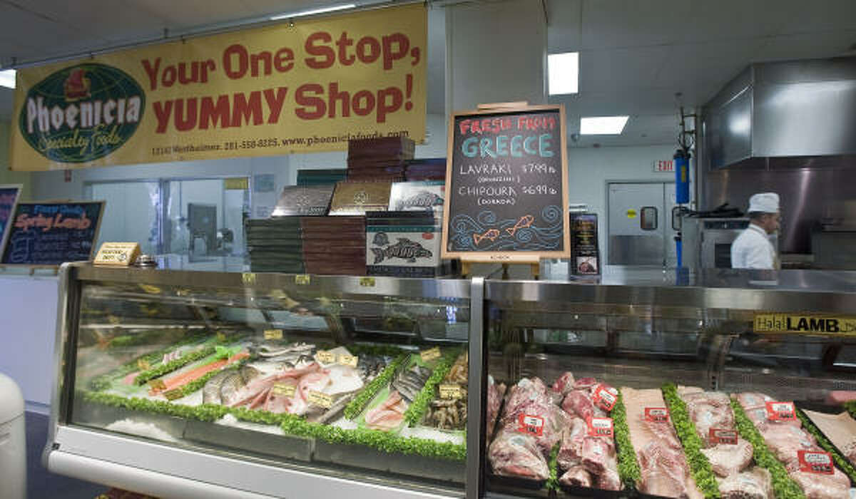 Like the west Houston store, above, the downtown Phoenicia Specialty Foods will have fresh meat and seafood.