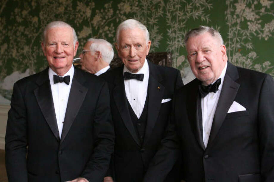 The Honorable James Baker III, Dr. Denton A. Cooley and William P. Hobby Photo: Bill Olive