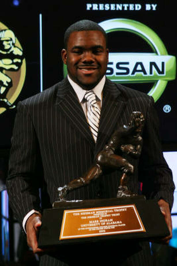Alabama running back Mark Ingram will try to be the first Heisman Trophy winner to win the national title since Matt Leinart. Photo: Chris Trotman, Getty Images