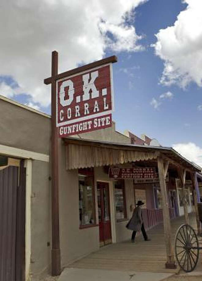 The O.K. Corral is shown Wednesday, April 21, 2010 in Tombstone, Ariz.  A box of original court transcripts from the 1881 Coroner's Inquest in the Gunfight at the OK Corral were handed over to the Arizona State Archives in Phoenix early Wednesday. Photo: Matt York, Assocaited Press