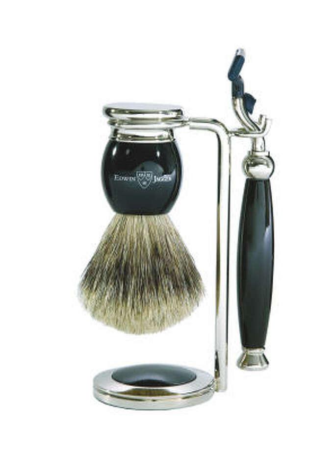 Edwin Jagger Handmade English Faux Ebony Three Piece Shaving Set Photo: Amazon.com