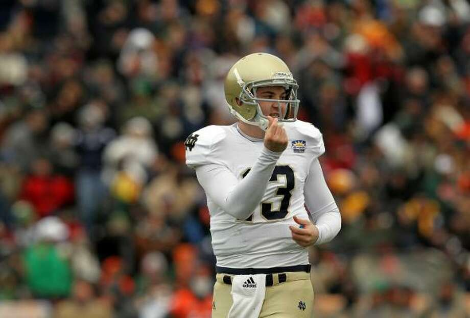 Notre Dame quarterback Tommy Rees celebrates a touchdown against Miami at the Sun Bowl on Friday. Photo: Ronald Martinez, Getty Images