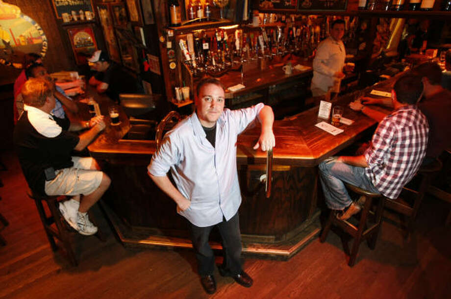 Joe Jackson is general manager of the Ginger Man, a venerable and beloved beer bar in Rice Village that is celebrating its 25-year anniversary. Photo: Julio Cortez, Chronicle