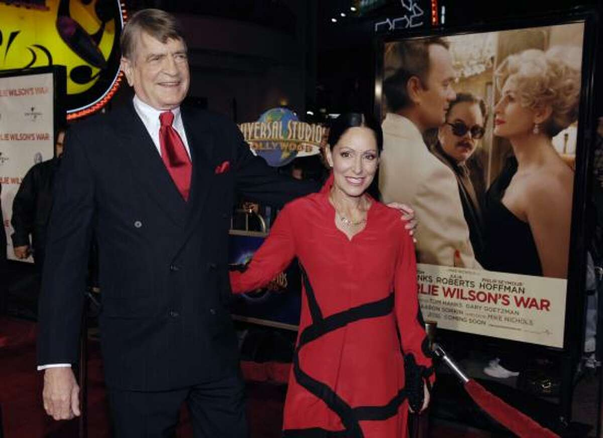 Former U.S. Rep. Charlie Wilson arrives with his wife Barbara at the world premiere of Charlie Wilson's War in 2007.