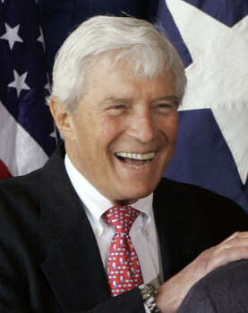 Robert Mosbacher, shown in 2008, moved to Houston in 1948 and later became close friends with another former Easterner, George H.W. Bush. Photo: Pat Sullivan, AP File
