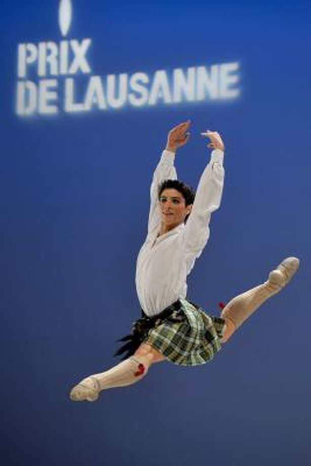 Emanuel Amuchastegui performs during the final competition Sunday. Photo: DOMINIC FAVRE, Associated Press