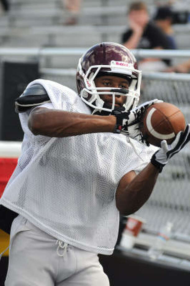 Wide receiver C.J. McElroy had a hand in scoring five touchdowns four different ways in Clear Creek's 49-14 victory over Pasadena Memorial on Saturday. Photo: L. Scott Hainline, For The Chronicle