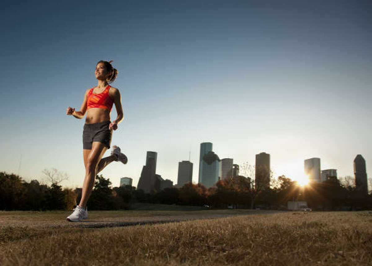 """Lisa Foronda runs five days a week, even when she's not training. When she is training, she will run six miles, four days a week, followed by a long run on the weekend. """"It's the only time of the day when I don't have my BlackBerry. It's just me,"""" Foronda said."""