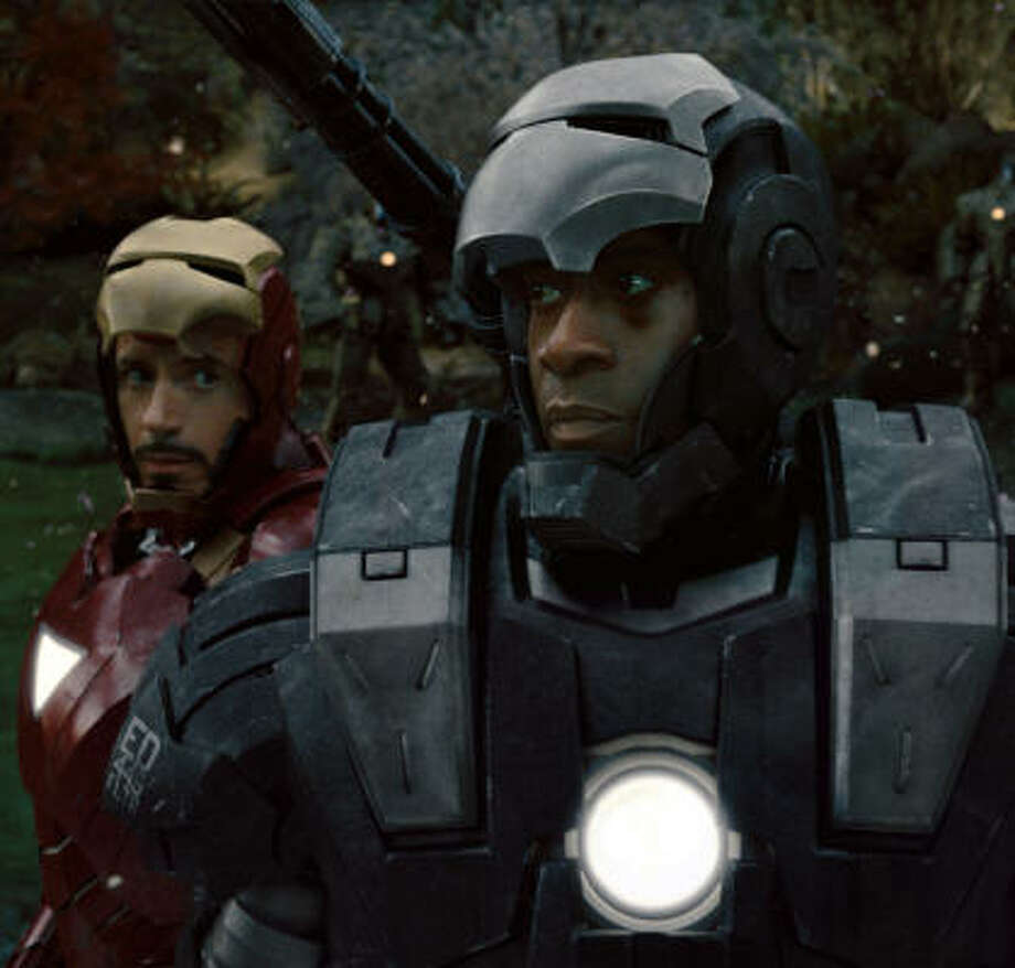 "Don Cheadle plays James ""Rhodey"" Rhodes, who must balance his sense of duty to the military and his loyalty to friend Tony Stark. Photo: Industrial Light & Magic"