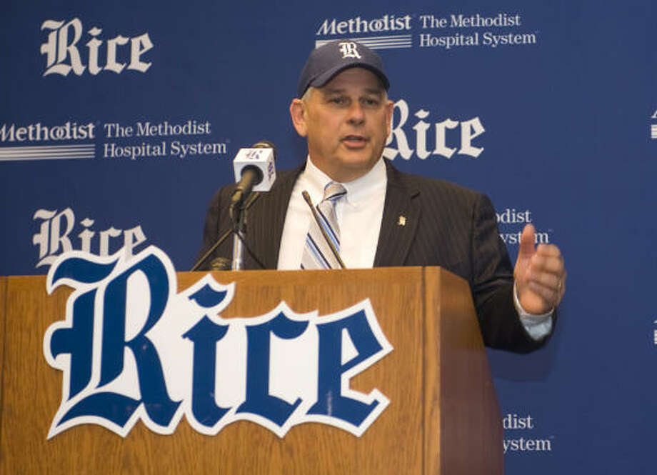 While Rice and UH may not join the Big Ten, it will affect the programs run by Rick Greenspan (above) and Mack Rhoades. Photo: Courtesy Of Rice University