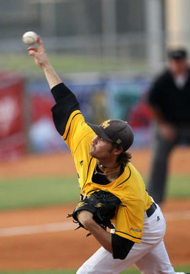 Southern Miss pitcher Todd McInnis allowed four runs to a Rice offense that scored 53 runs in the first three games of the tournament. Photo: Nick De La Torre, Chronicle