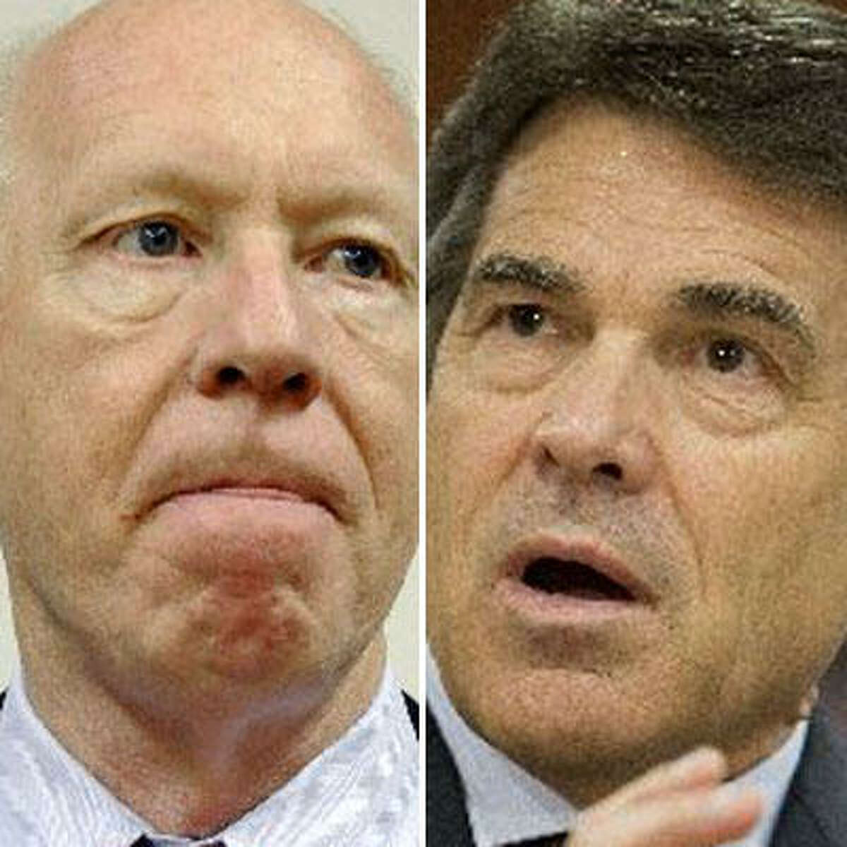Gubernatorial candidates Democrat Bill White, left, and Republican Rick Perry.