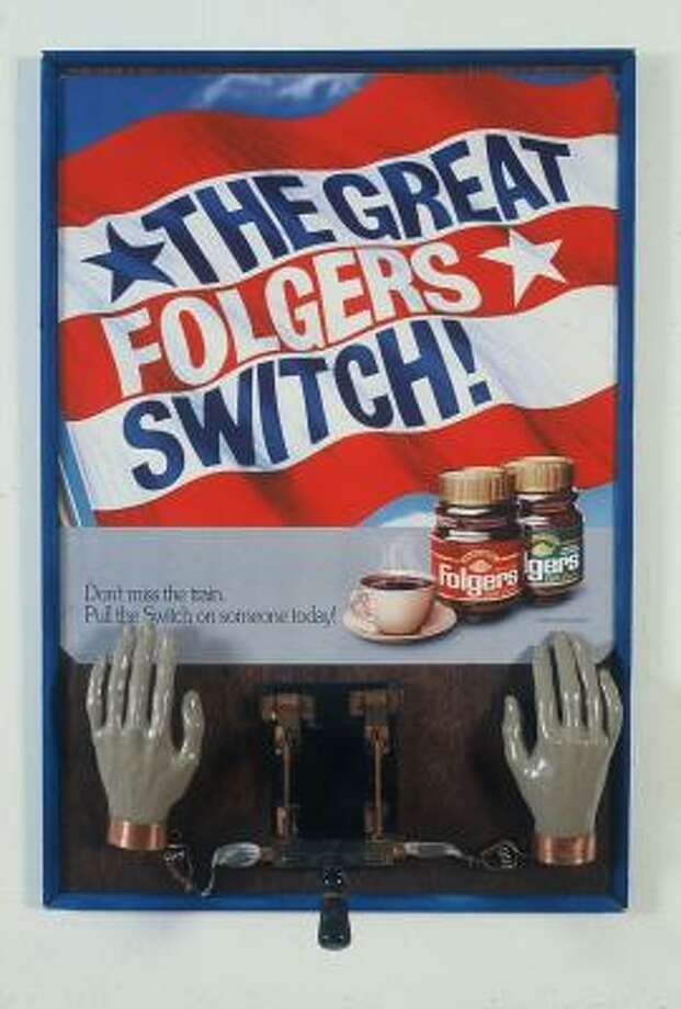 Benjamin Patterson The Great Switch, 1990 Poster mounted on plywood with mixed media.