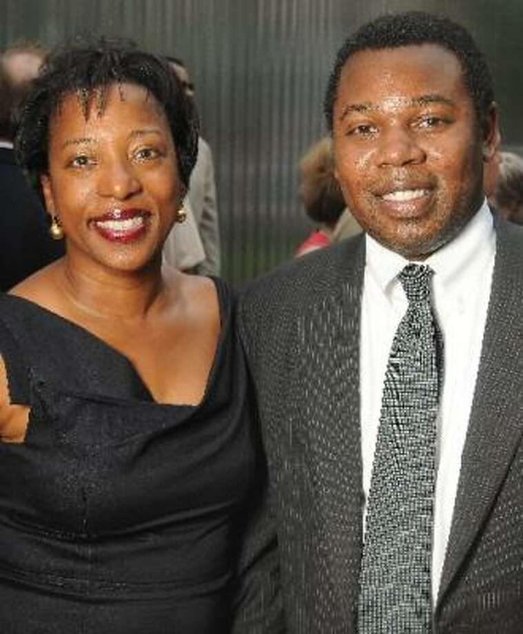 Valerie Cassel Oliver and Adrian Patterson at the Champagne & Ribs gala. Photo: DAVE ROSSMAN