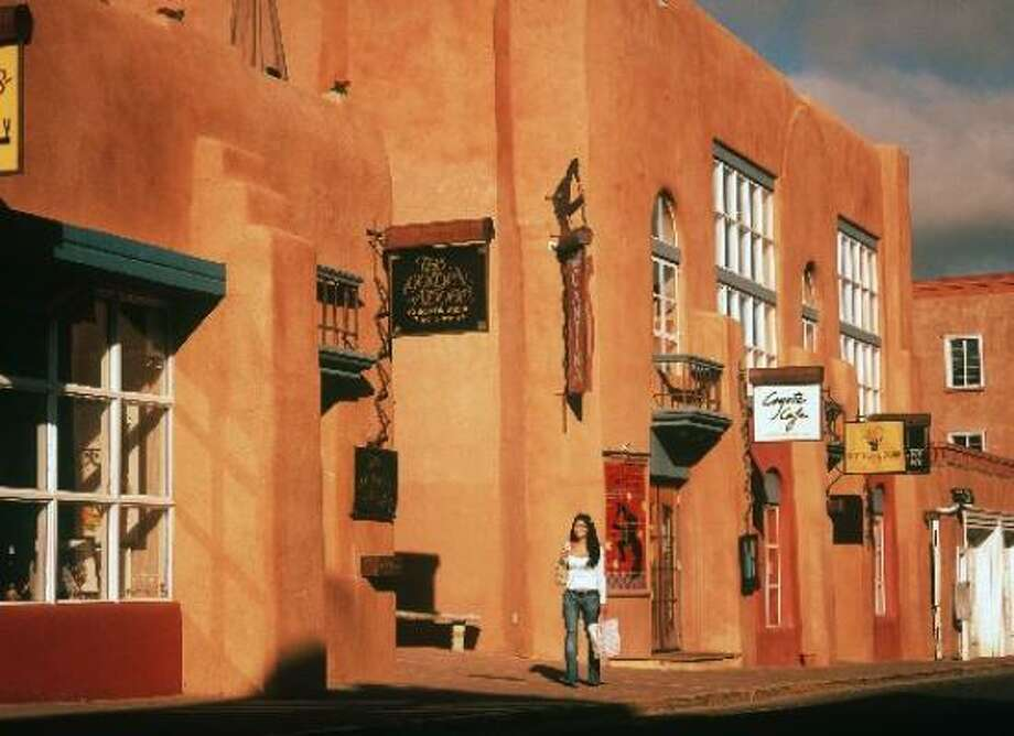 The adobe buildings in downtown Santa Fe, N.M., are a draw. Photo: DOUG MERRIAM