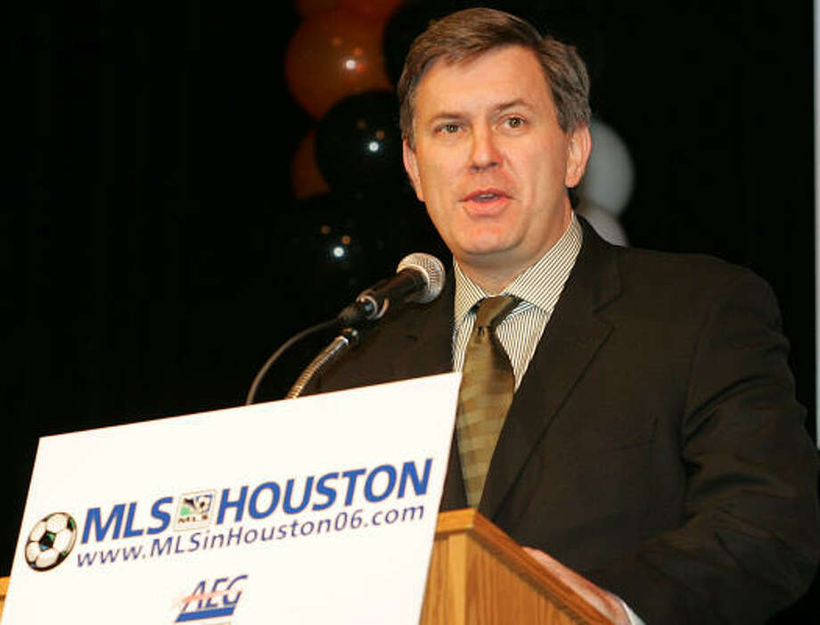 Tim Leiweke holds an important position in MLS as president of Dynamo co-owner AEG. Photo: James Nielsen, For The Chronicle