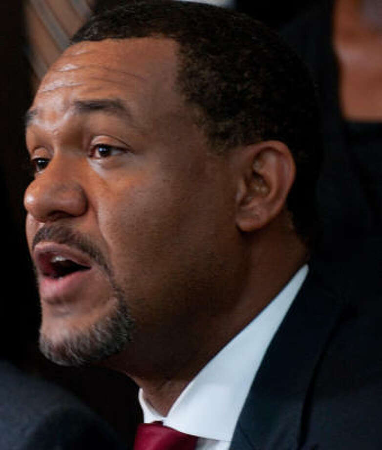 Councilman Jarvis Johnson, seen in July, has denied that he was aware that a volunteer in his office was seeking contributions from businesses participating in the All American Mandatory Solutions Project. Photo: John Jiles, Chronicle