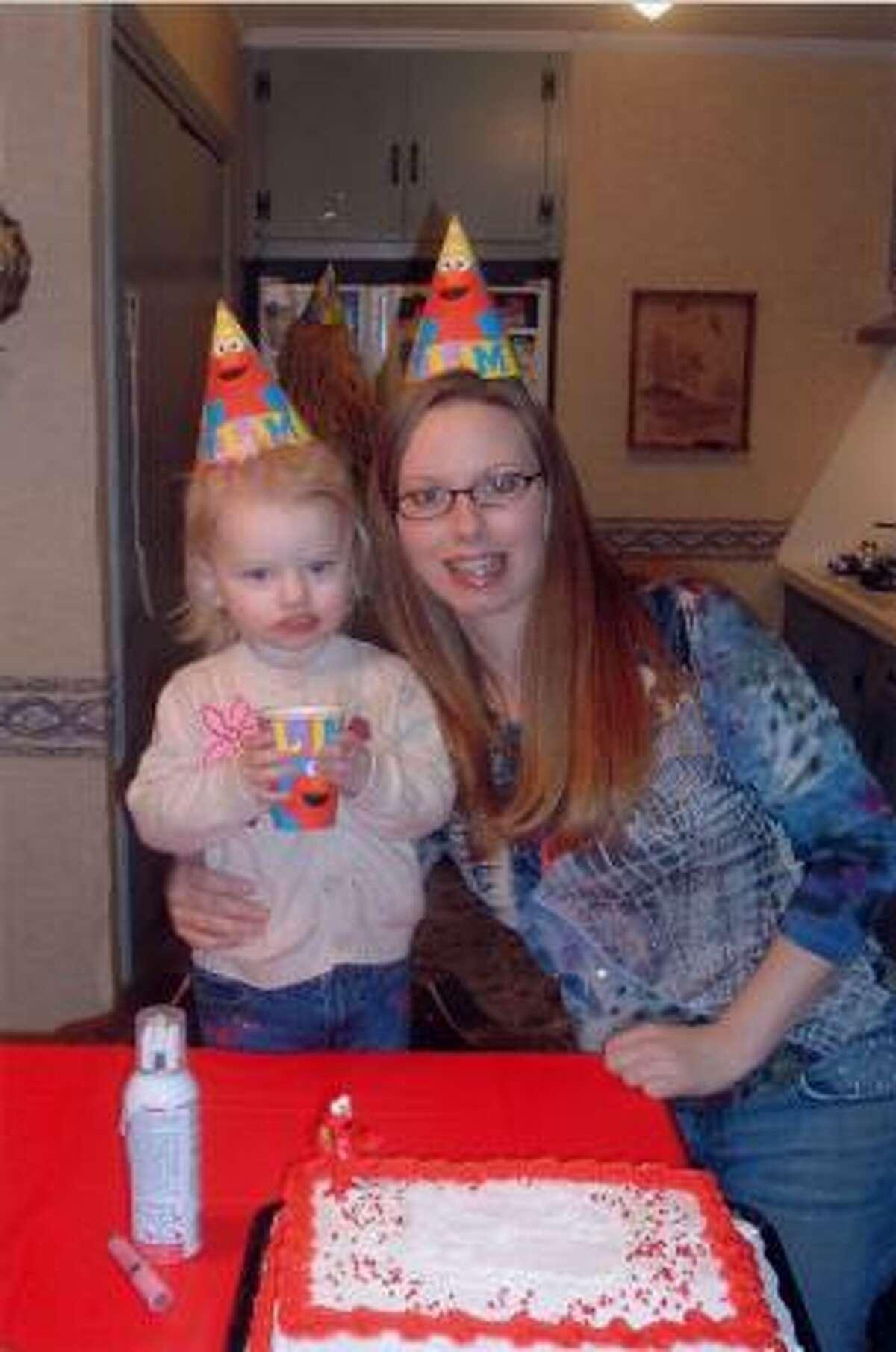 Bridgette Gearen and her daughter Kyra, 2