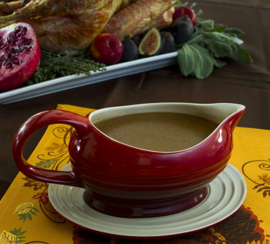 Fretting over the gravy has become part of the ritual of cooking anxieties that go along with preparing holiday meals. Photo: Brett Coomer :, Chronicle
