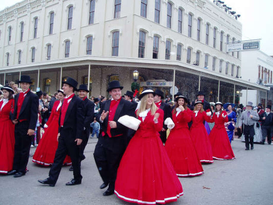 The Steampunk group walks through Galveston's downtown recently in an effort to become more familiar with the Dickens on The Strand festival area. Photo: Galveston Historical Foundation