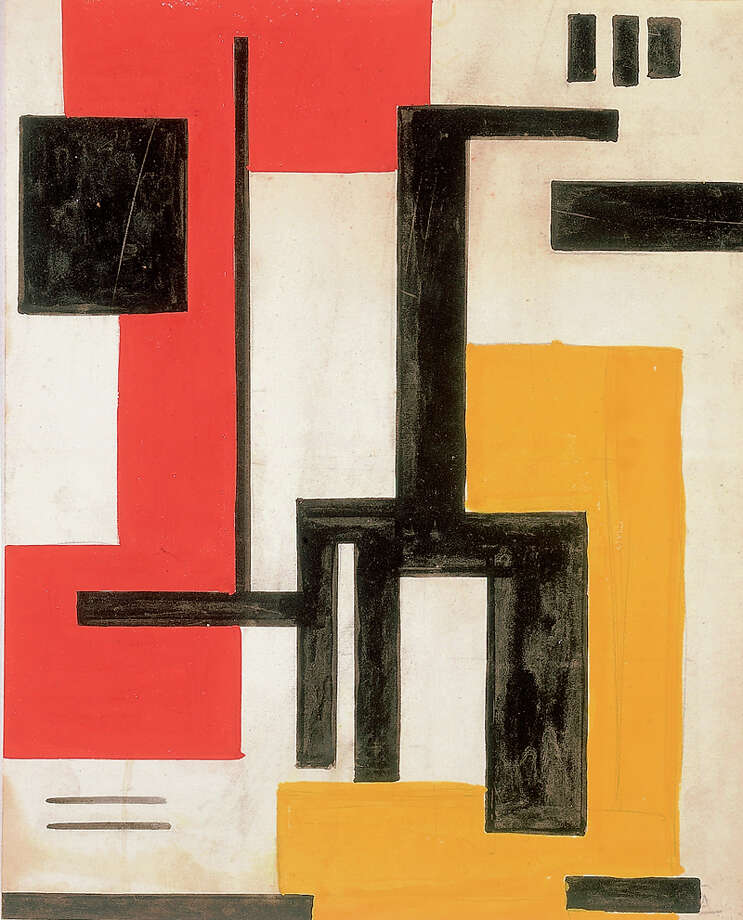 An untitled 1933 drawing by abstract art pioneer Burgoyne Diller. COURTESY McNAY ART MUSEUM