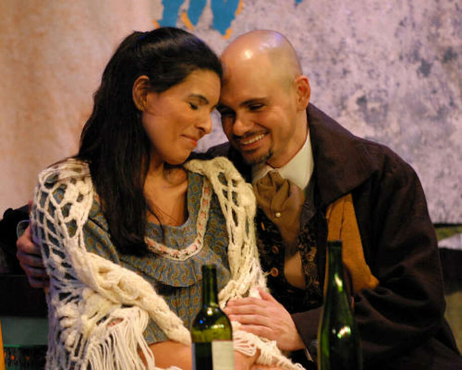 Daniella Carvalho and David Guzman sang the roles of tragic lovers Mimi and Rodolfo in Opera in the Heights' production of La Bohème. Photo: Opera In The Heights