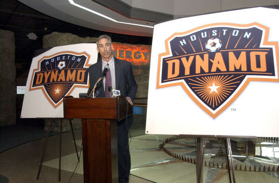 Oliver Luck will be honored in the Dynamo's last MLS regular-season game before he takes over as athletic director at his alma mater West Virginia. Photo: Kim Christensen, For The Chronicle