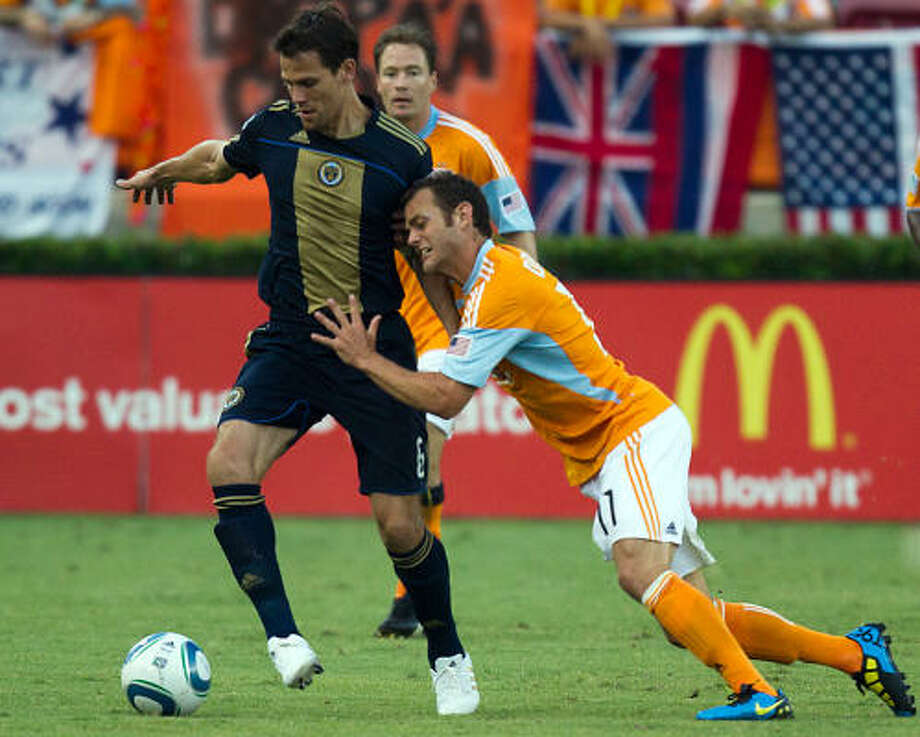 Mike Chabala has missed time with injury, adding to the Dynamo's defensive challenges. Photo: Smiley N. Pool, Chronicle