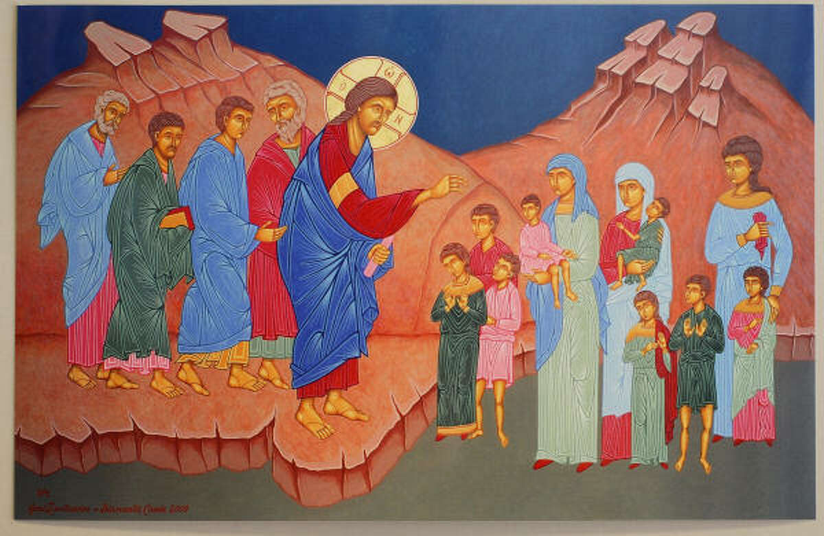 """""""Christ Blessing the Children"""" by Diamantis Cassis"""