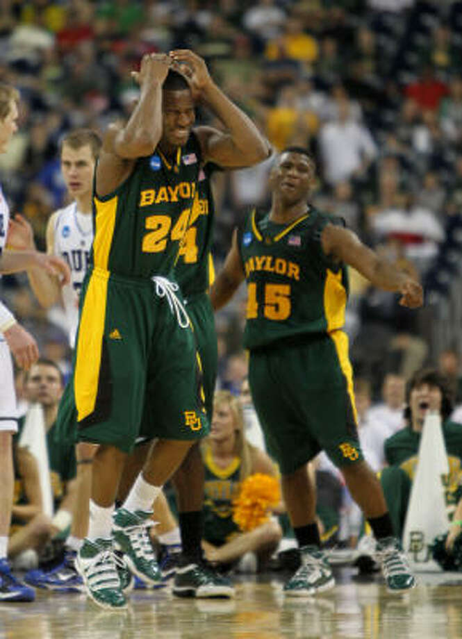 Baylor's greatest basketball season in 60 years ended with a 78-71 loss to Duke. Photo: Nick De La Torre, Chronicle