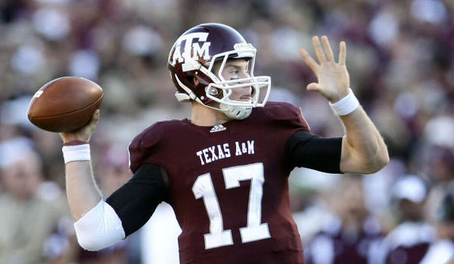 Ryan Tannehill took over at quarterback earlier this season and sparked the Aggies' rise to No. 17. Photo: Nick De La Torre, Chronicle