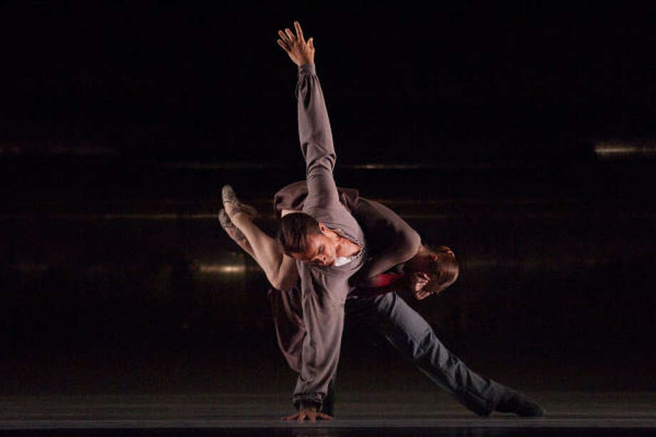 Sara Webb and Nicholas Leschke in a scene from Jirí Kylián's Forgotten Land. Photo: JIM CALDWELL