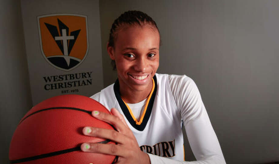 Standing at 6-foot-4, Westbury Christian freshman Brianna Turner already is getting looks from NCAA Division I college basketball programs like Duke, Stanford, Texas and Baylor. Photo: Billy Smith II, Chronicle