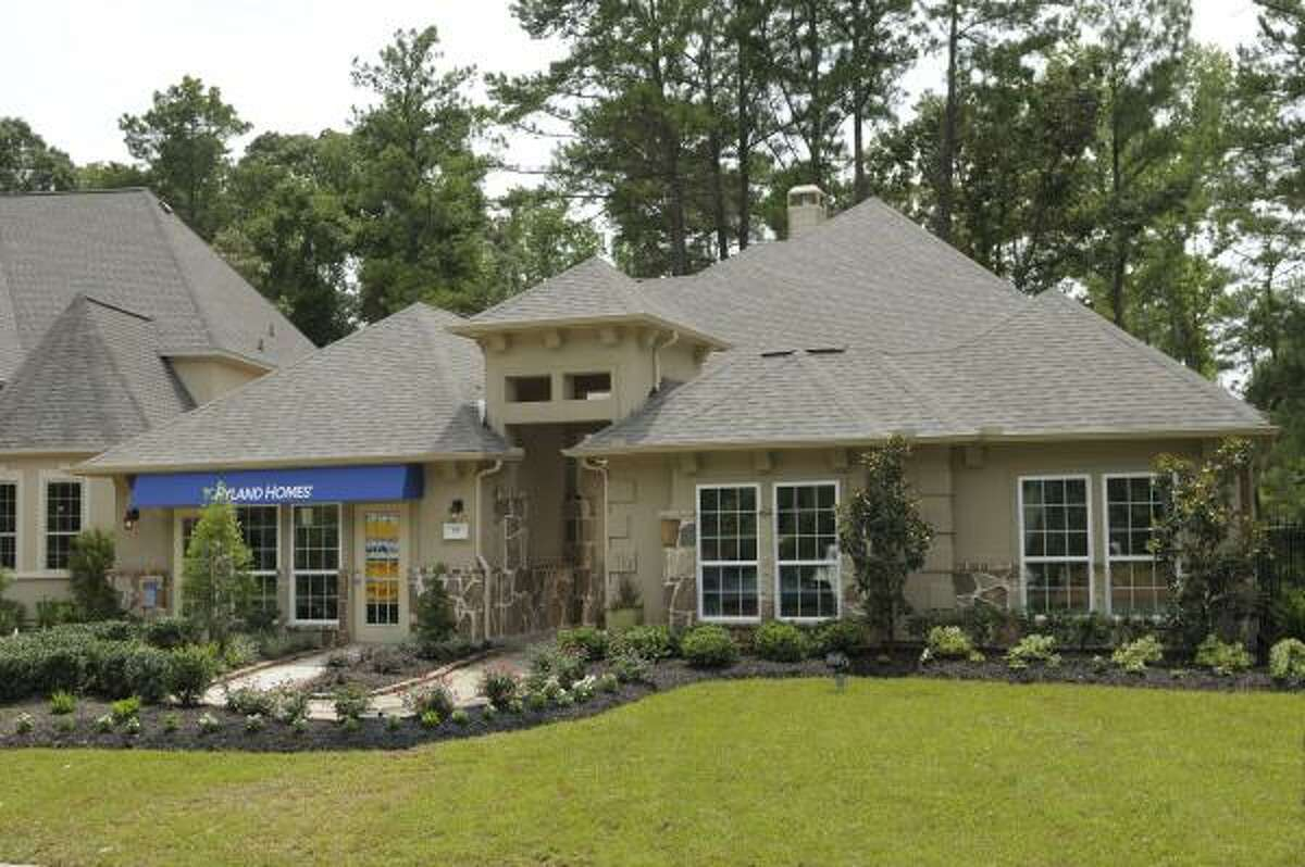 creekside PARK Rhapsody: Beazer, D.R. Horton, Pulte, Ryland and Toll Brothers offer homes from the $180,000s, in the 240-acre neighborhood of Timarron in The Woodlands' Village of Creekside Park. Pictured is the Rhapsody by Ryland, priced from $322,990.