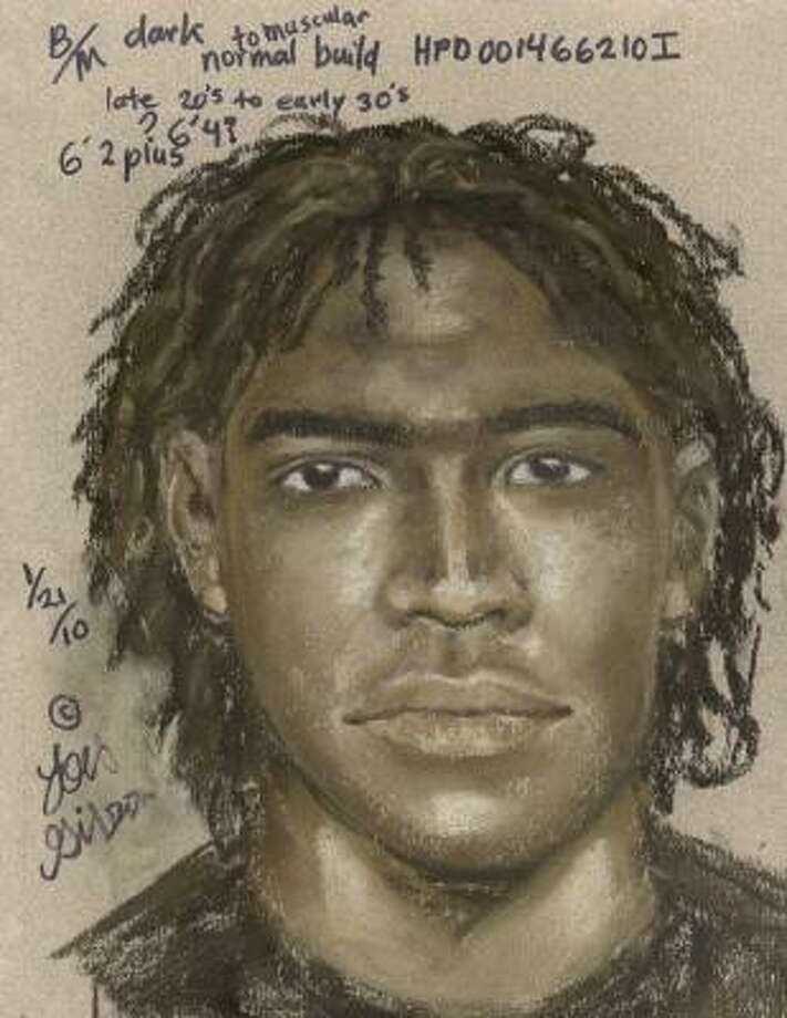 This is a Houston police sketch of one of four men suspected of kidnapping a woman in southwest Houston on Jan. 4. Photo: Police Sketch