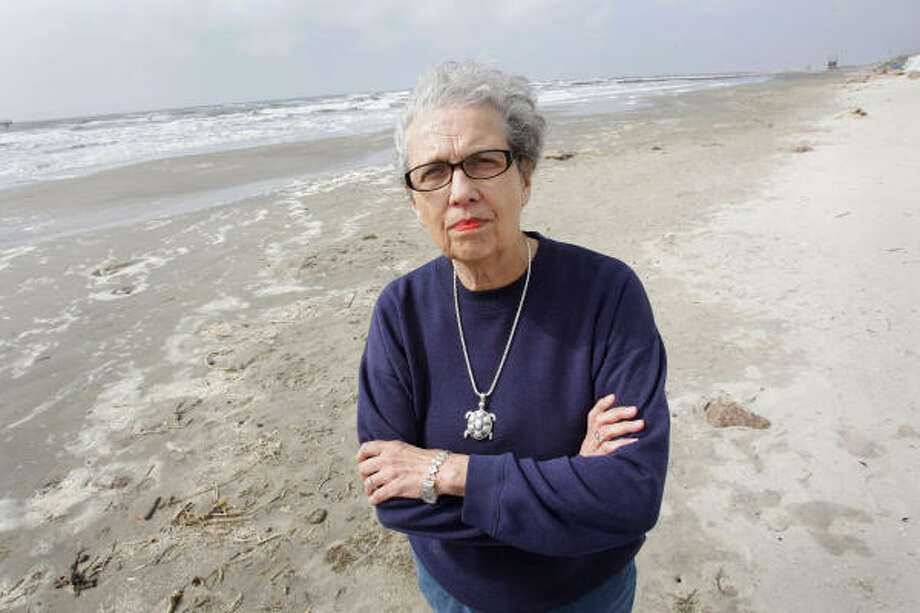Carole Allen, of the Sea Turtle Restoration Project, is disappointed that a new federal plan for saving the Kemp's ridley sea turtle did not include the upper Texas Gulf Coast, which includes Galveston and Bolivar Peninsula. Photo: Melissa Phillip, Chronicle