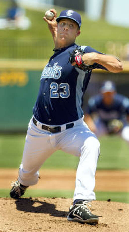 Jordan Lyles could make the highest-profile Astros pitching debut since Roy Oswalt. Photo: Corpus Christi Caller-Times