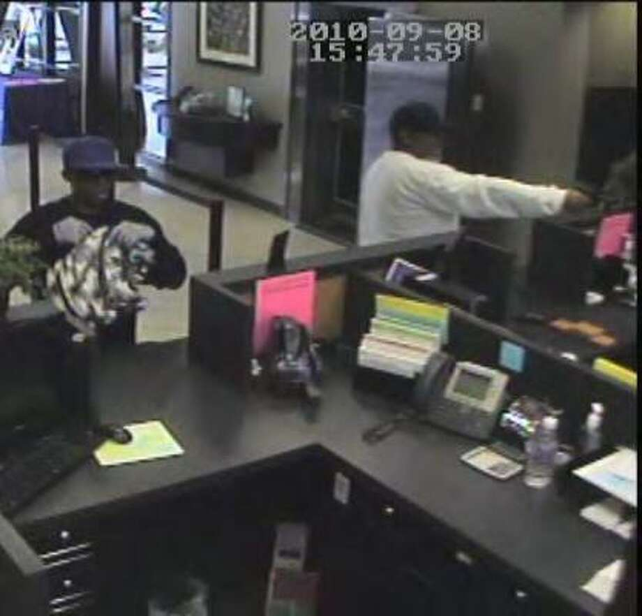 The bank's surveillance camera recorded the men's images during the heist. Photo: FBI