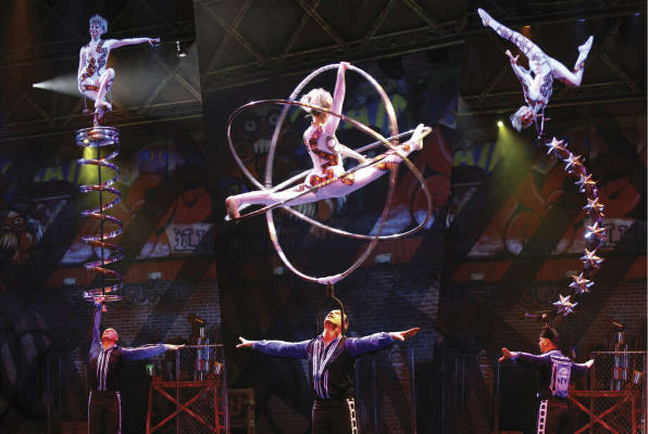 The touring production, presented as part of the Broadway Across America series, is a mix of circus and theater. Photo: Cirque Dreams Illumination