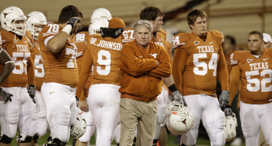 The most disastrous three months of the Mack Brown era at Texas ended with the loss to Texas A&M. Photo: Karen Warren, Chronicle