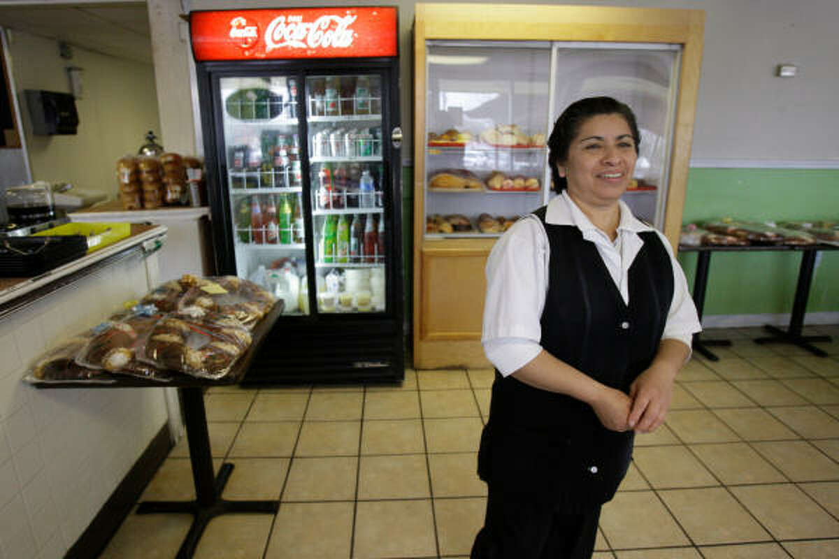 Faustina Ortiz's San Luis Bakery and Taqueria is typical of the Hispanic small businesses in Conroe whose futures are likely to be affected by the upcoming decennial census.