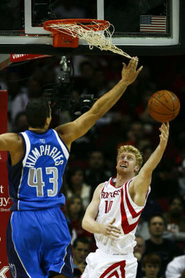 Rockets forward Chase Budinger became a valuable option off the bench, averaging 8.2 points per game. Photo: Michael Paulsen, Chronicle
